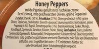Honey Peppers, Senf Honig - Ingredients - de