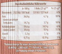 Cookies Triple Chocolate - Informations nutritionnelles