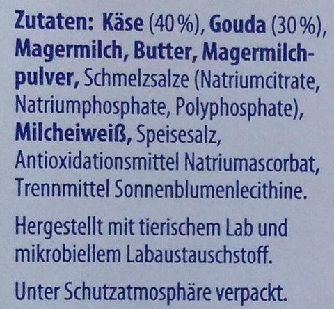 Sandwich-Scheiben Gouda - Zutaten