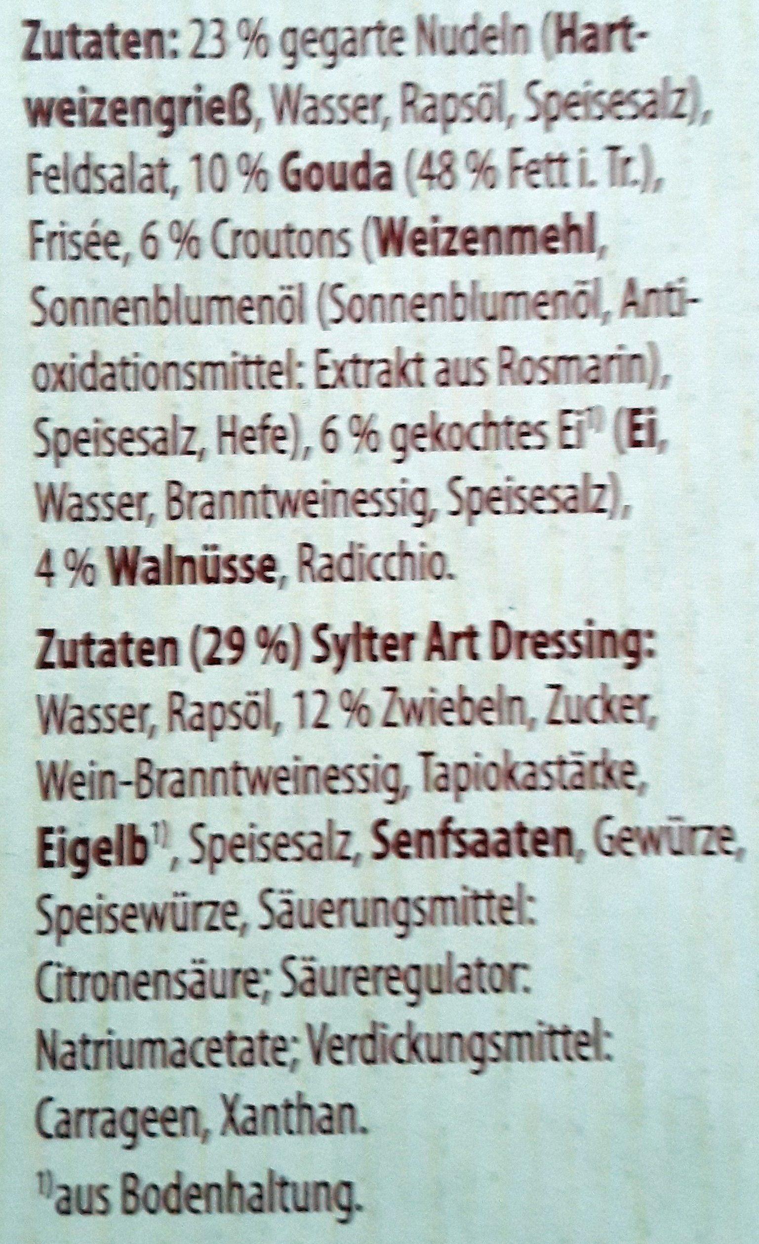 ORZO SALAT MIT KÄSE, CROUTONS UND STYLER ART DRESSING - Ingrédients - fr