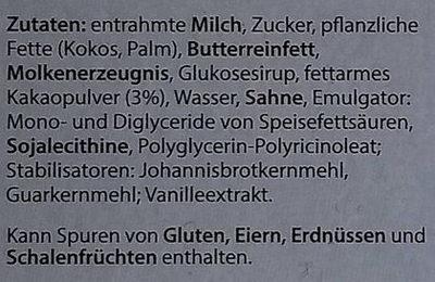 Tannenbaum-Eis - Inhaltsstoffe