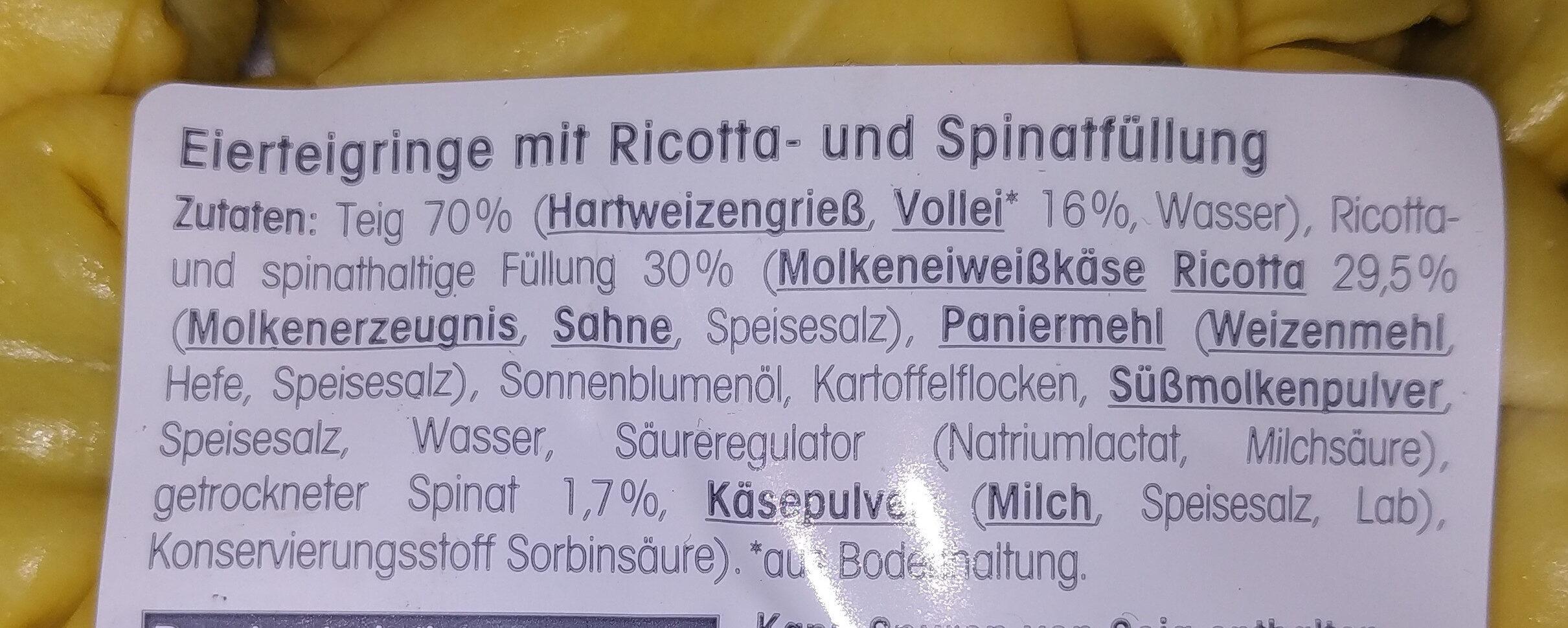 Tortelloni ricotta e spinaci - Ingrédients - de