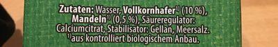Bio Haferdrink Mandel - Ingrédients