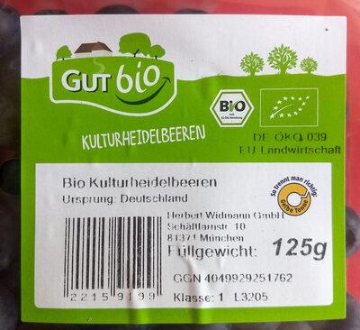 Bio Kulturheidelbeeren - Product - de