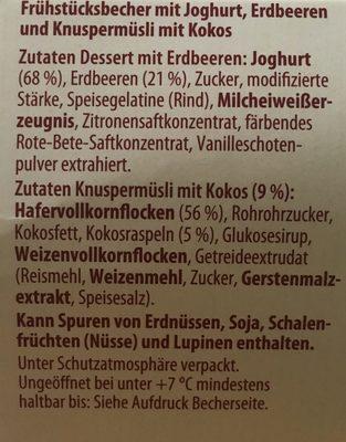Frühstücksbecher, Joghurt Mit Roter Grütze Und Müs. .. - Ingrédients - de