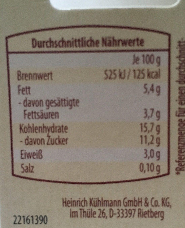Frühstücksbecher, Joghurt Mit Roter Grütze Und Müs. .. - Informations nutritionnelles - de