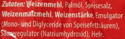 Salzbrezeln - Salz - Inhaltsstoffe