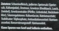 Schinken-Genuss zarter Saft-Kochschinken - Inhaltsstoffe