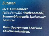 Alpenrand Back camembert - Ingredients