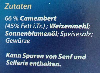 Alpenrand Back camembert - Ingrédients - fr