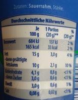 Crème leicht Pur - Zutaten