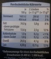 Genießer Salami - Nährwertangaben