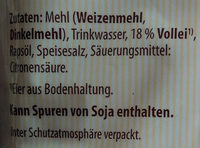 Schwäbische Spätzle - Ingredients - de