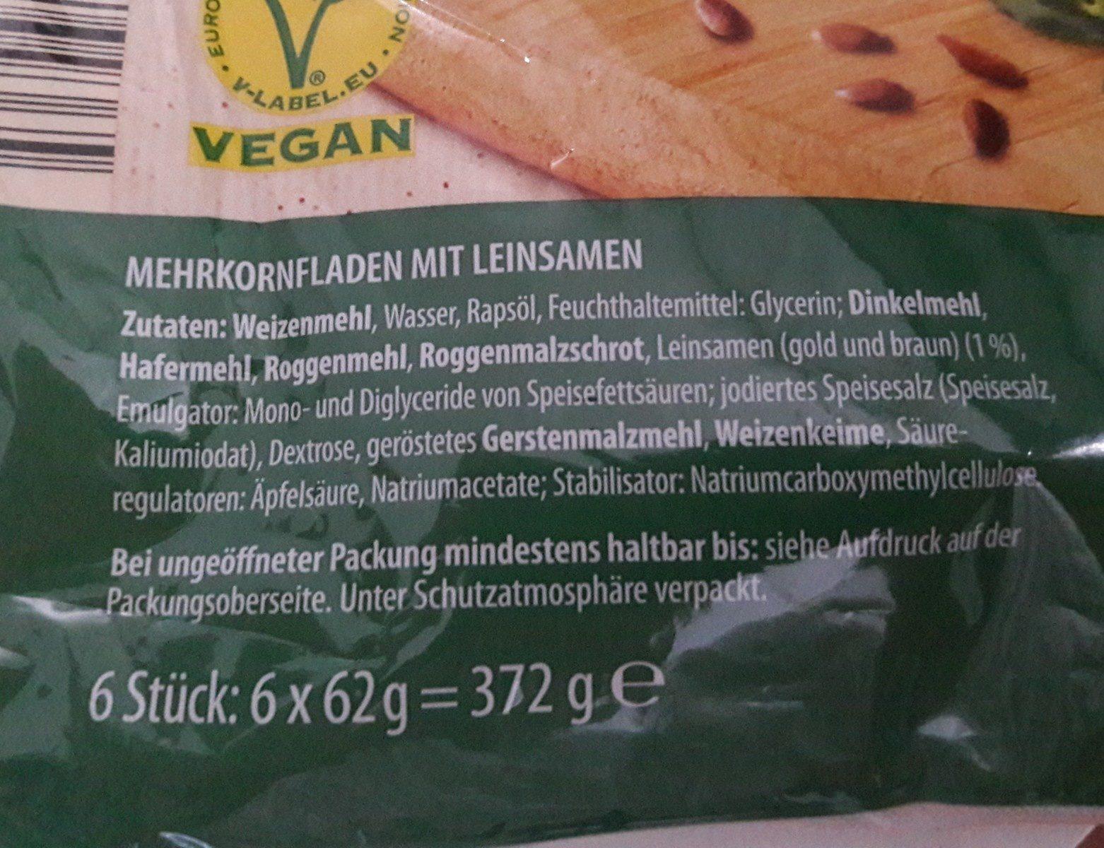 Mühlengold Klassisch Wraps Mehrkorn Mit Leinsamen - Ingrediënten