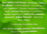 Knusper-Müsli Schoko-Banane - Ingredients