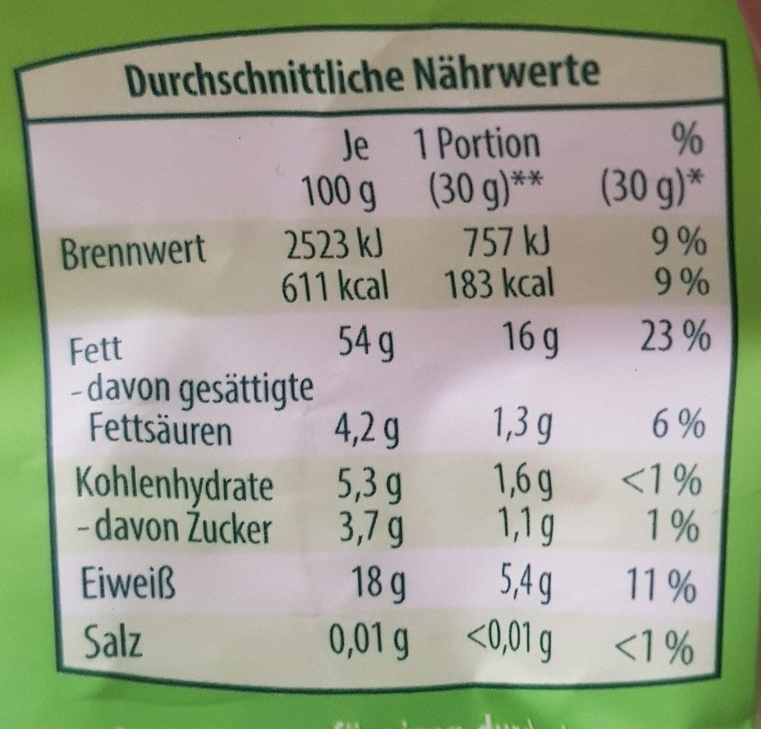 Mandeln - Voedingswaarden - de