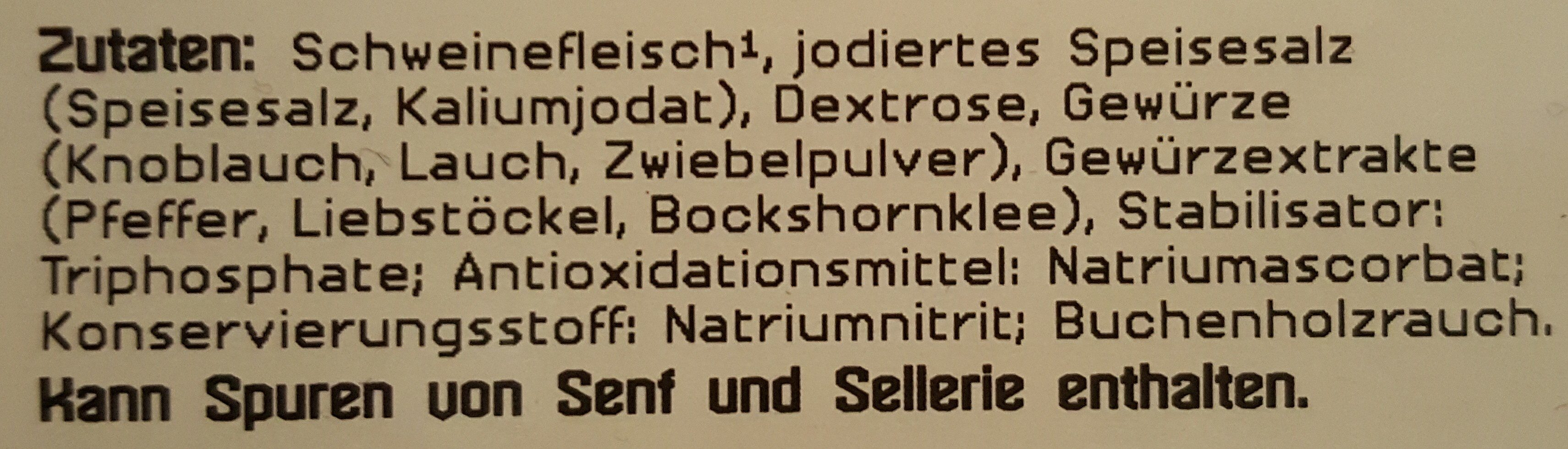 Prager Schinken - Ingredients
