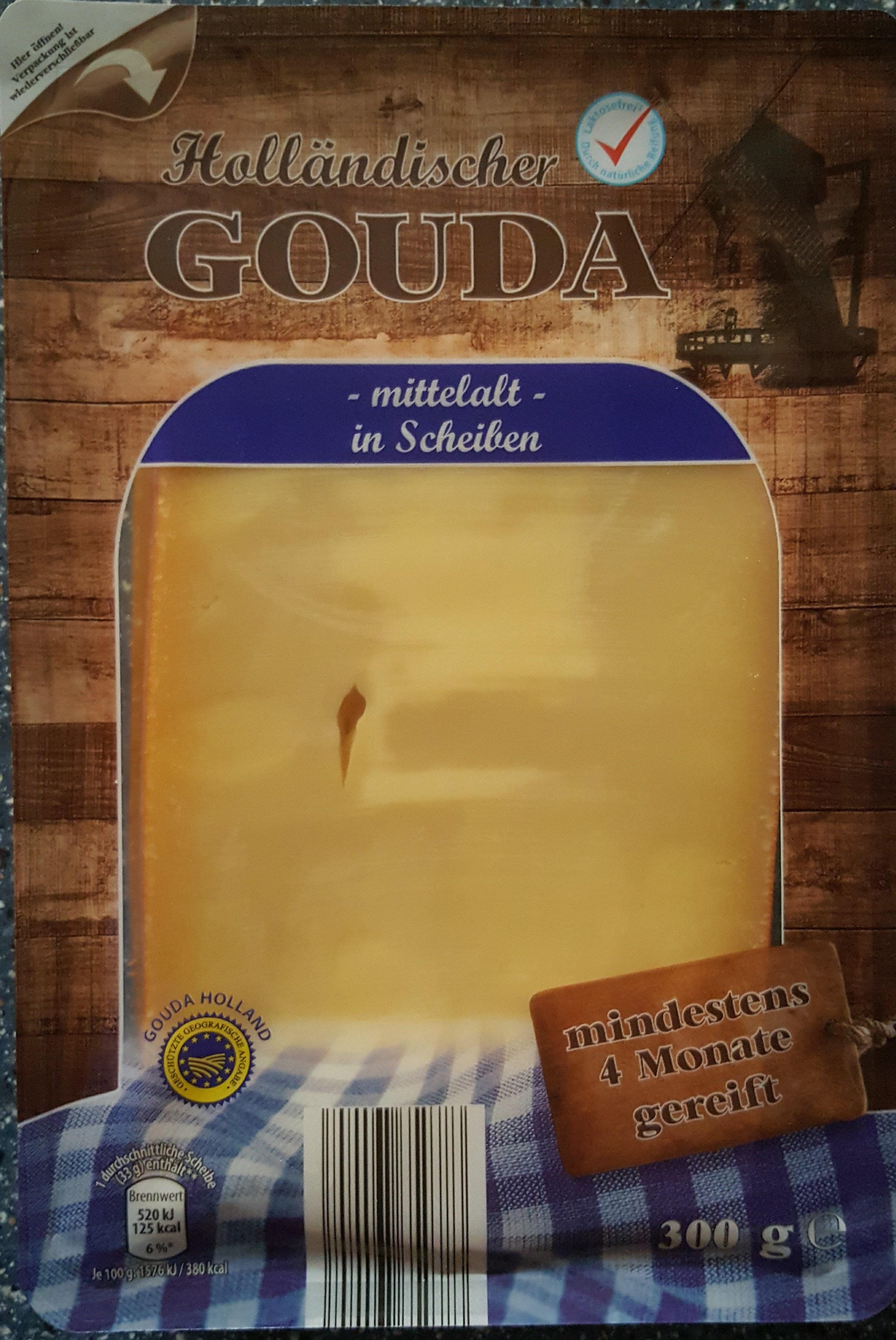Holländischer Gouda - mittelalt - in Scheiben - Produkt - de