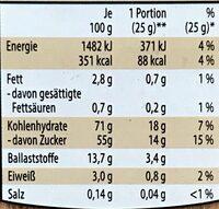 Getrocknete Feigen - Nutrition facts - de