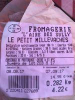 Le petit millevaches - Ingrédients - fr