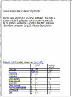 2 Cuisses de lapin + 1 sachet cuisson + 1 sachet assaisonnement moutarde - Nutrition facts