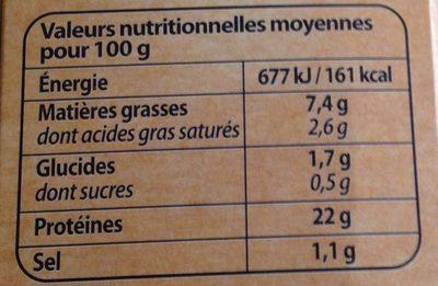 Jarret de Porc Désossé et son Jus d'Échalotes & Moutarde - Información nutricional