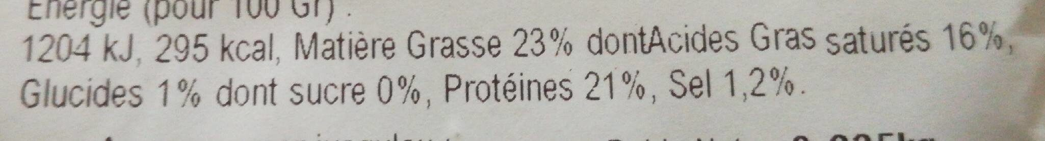 Bûche de chèvre - Nutrition facts