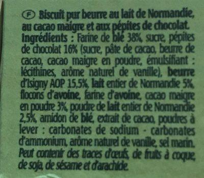 Le petit normand - Ingrédients