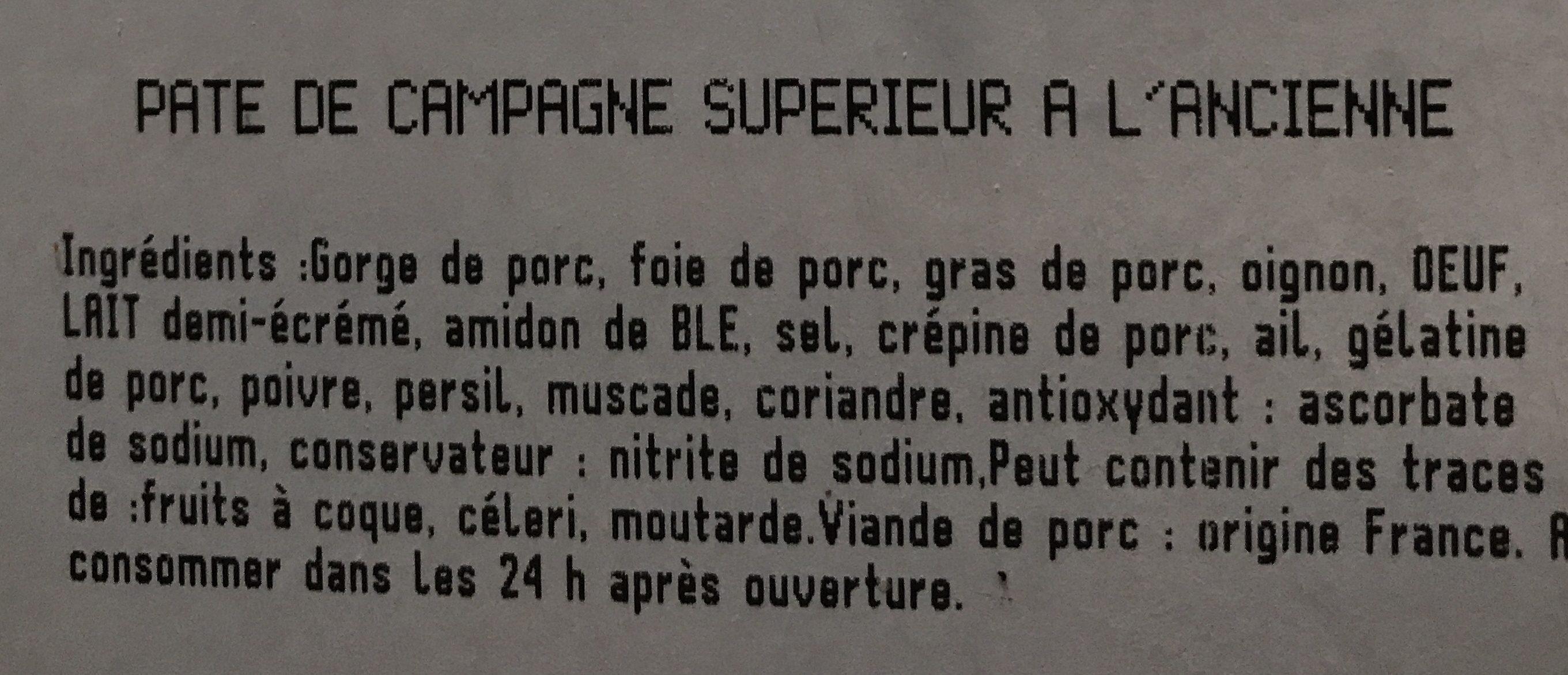 Terrine de campagne - Ingrediënten
