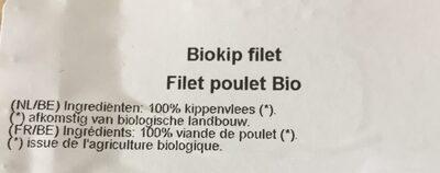 Filet poulet - Ingrédients