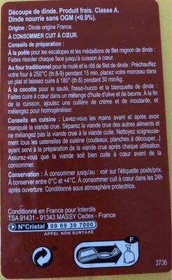 Escalope de Dinde Extra -fine - Ingrediënten - fr