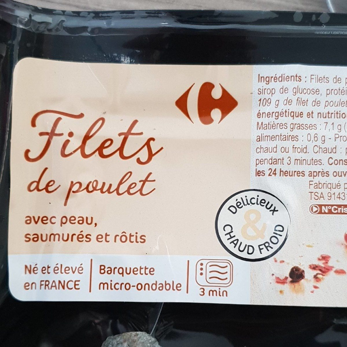 Filets de poulets saumurés et rôtis - Prodotto - fr