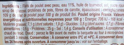 Filet de poulet - Ingredienti - fr