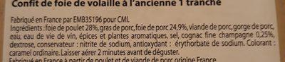 Confit de foie de volaille à l'ancienne - Ingredients - fr