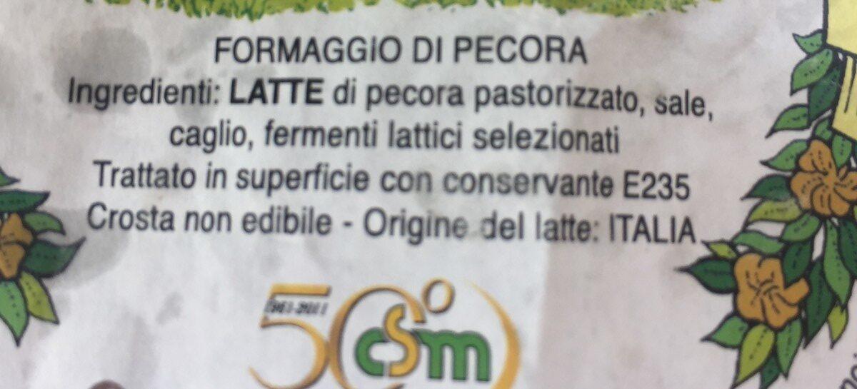 Pecorino viminato - Ingrédients - fr