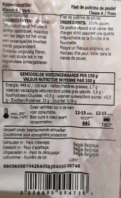 Chicken - Voedingswaarden - fr