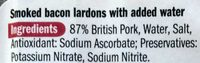 Smoked bacon lardons - Ingredients
