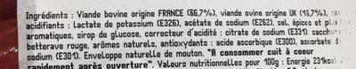 Merguez - Ingrédients - fr