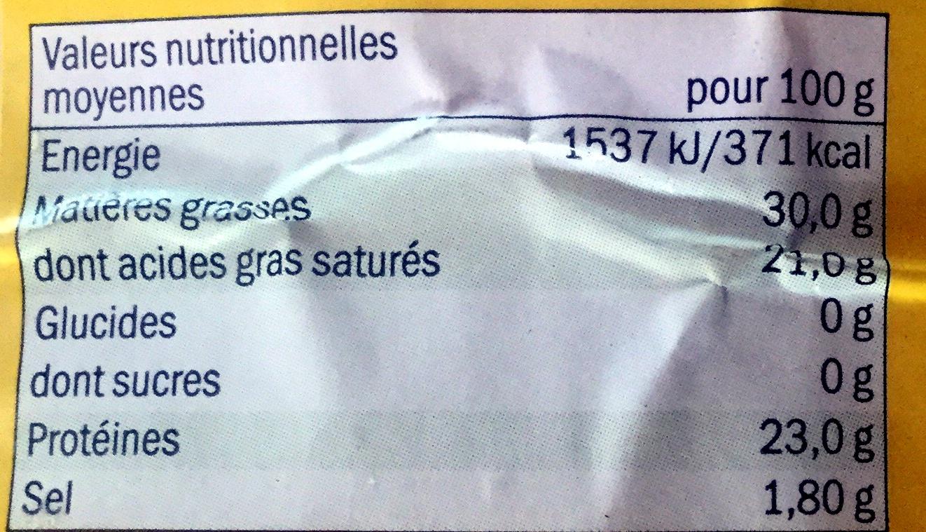 Gouda Holland - Nutrition facts - fr