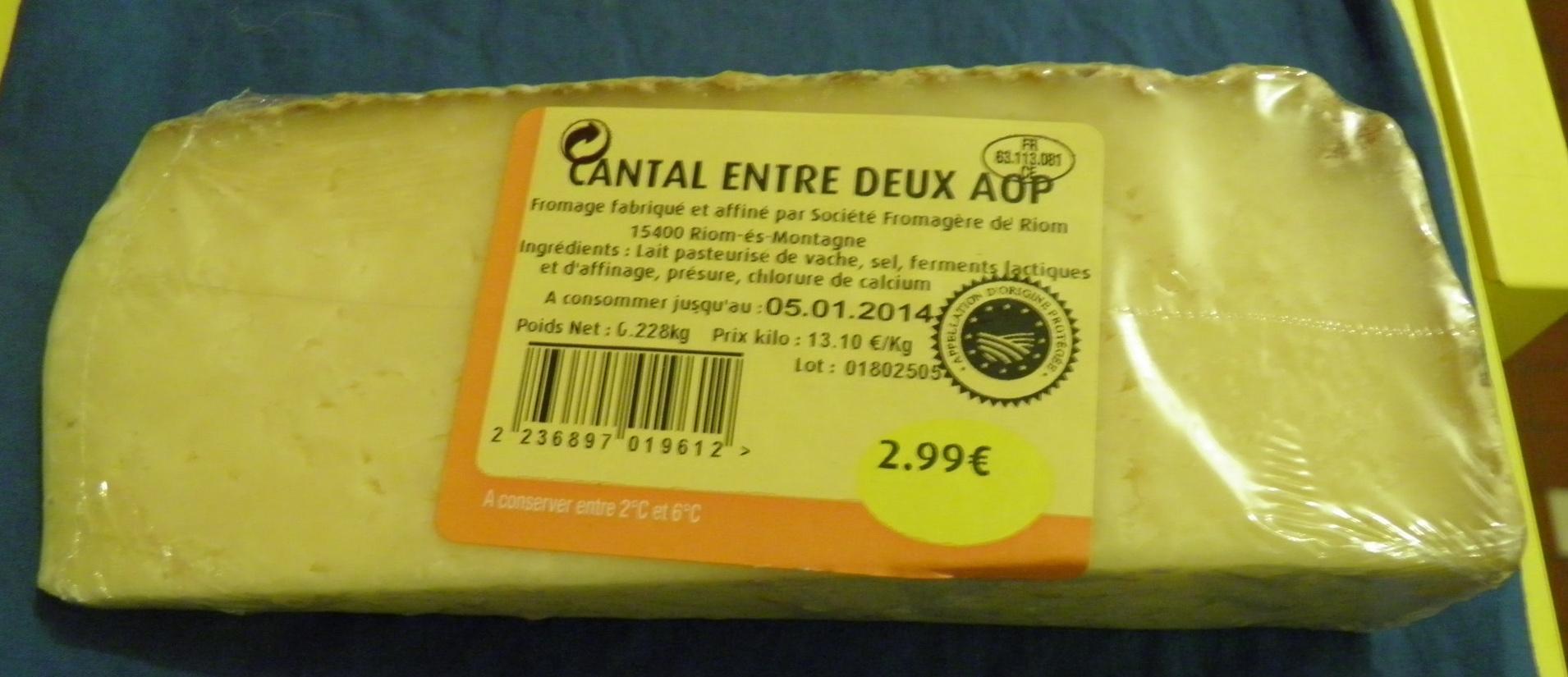 Cantal Entre Deux AOP - Produit - fr