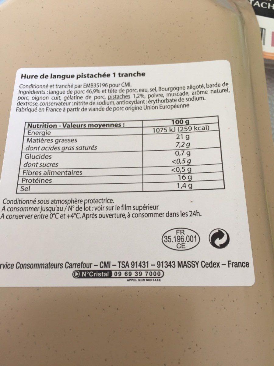 Hure de langue pistachee - Product - fr