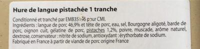 Hure de langue pistachée - Ingredients - fr