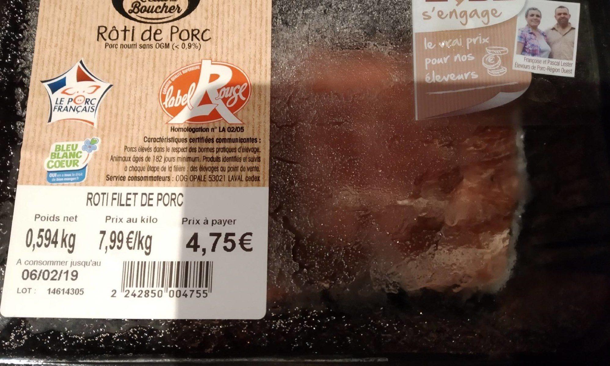 Roti de porc - Ingrediënten