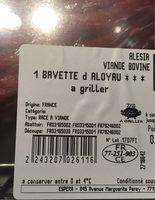 Bavette d'aloyau - Ingrediënten
