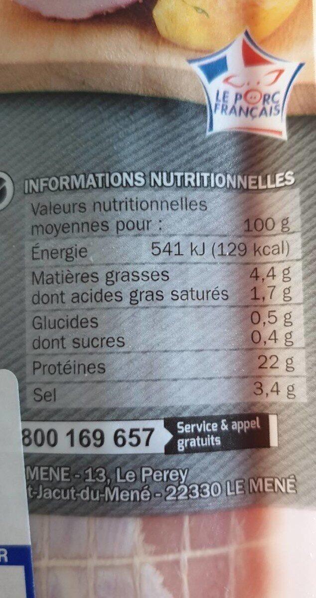Rôti saumuré - Nutrition facts