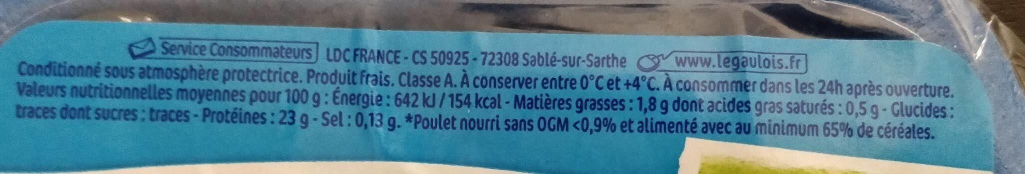 Aiguillettes de poulet - Ingredienti - fr