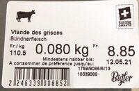 Viande des grisons - Prodotto - fr
