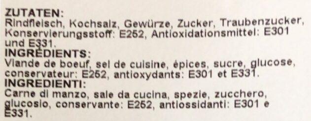 Viande des grisons - Ingredienti - fr
