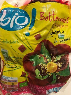 Betteraves rouges cuites à la vapeur - Valori nutrizionali - fr