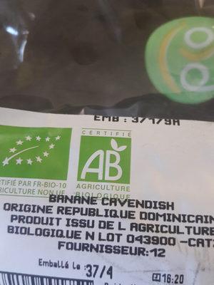Banane Bio - Informations nutritionnelles - fr